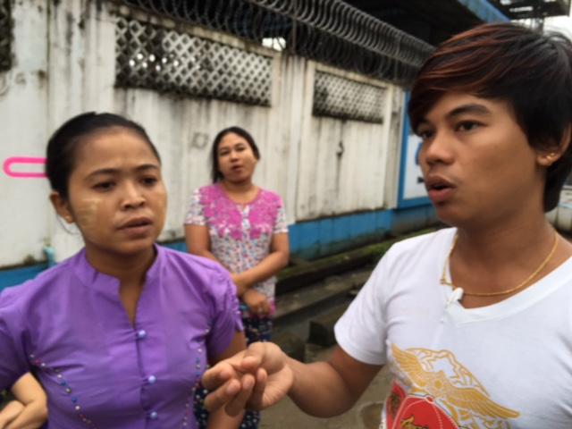 Myanmar. Garment workers Wai Yon Shin, Sue Sue Khaing and Thin Thin Yu.8.16.tc